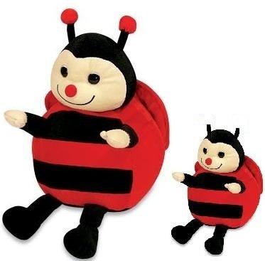 joaninha bel de pelúcia mãe e filha vermelha antialérgica