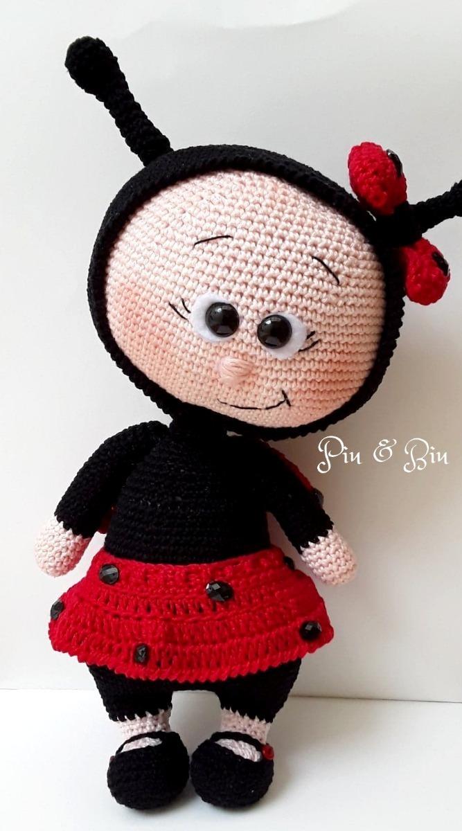 Amigurumi Joaninha de crochet Renata Vieira - YouTube | Joaninha ... | 1200x667