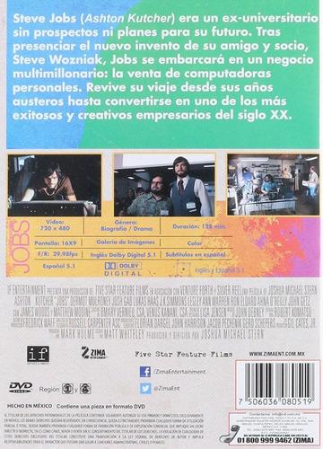 jobs ashton kutcher el hombre que cambio mundo pelicula dvd