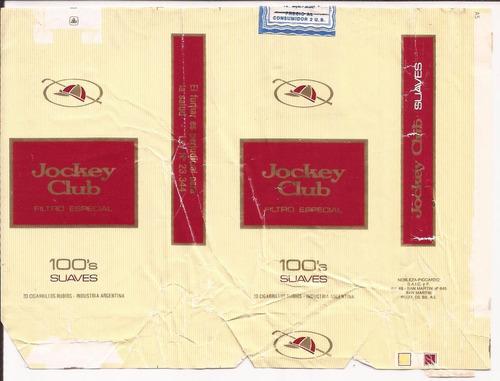 jockey club suaves 100´s 20 filtro especial - 1987