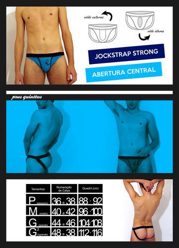 jockstrap strong azul - aumenta volume - prus quinttus