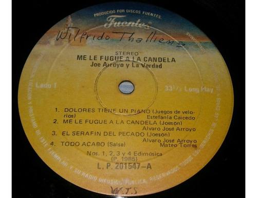 joe arroyo y la verdad tumbatecho/ salsa/ lp 1985 fuentes