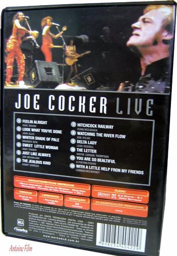 joe cocker live - dvd original novo lacrado
