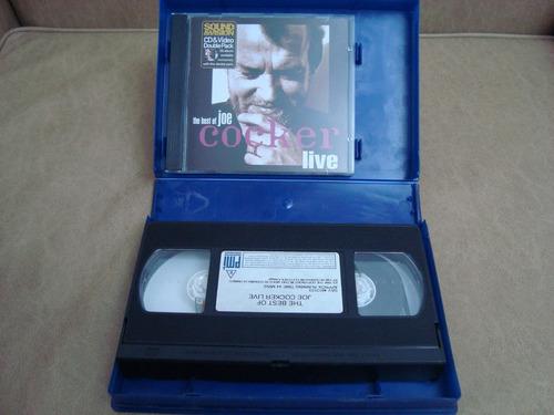 joe cocker the best live( sound & vision) vhs + cd uk
