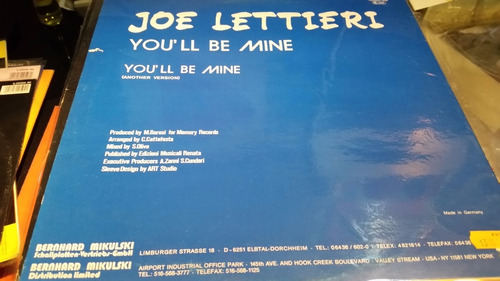joe lettieri you'll be mine vinilo maxi excelente raro italo