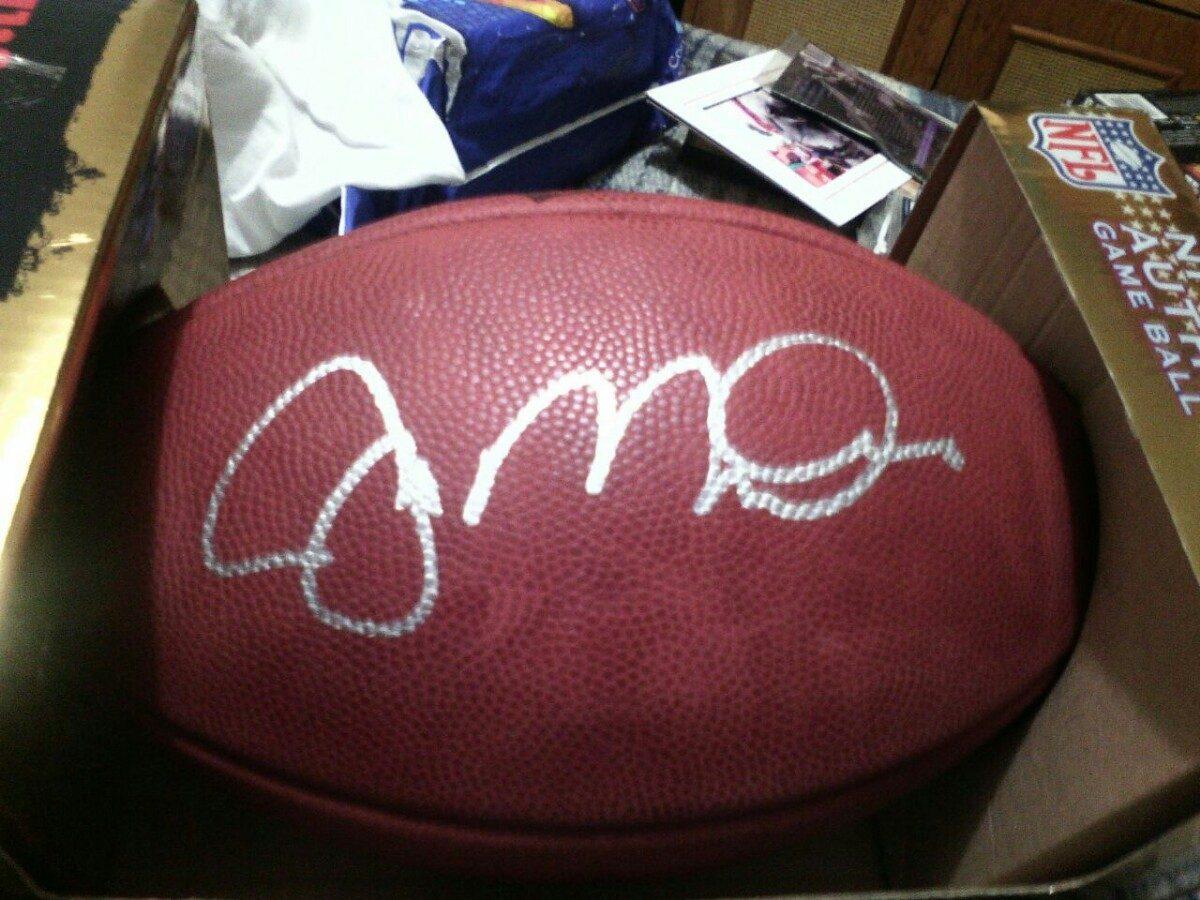 joe montana balon autografiado nfl 49ers de san francisco. Cargando zoom. d1425a3a13e