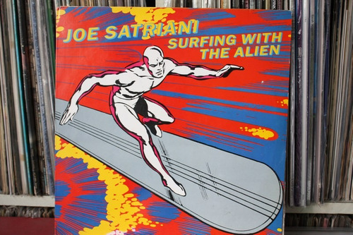 joe satriani surfer with alien  importado lp