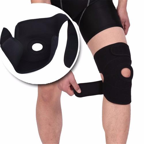 joelheira joelho articulada cintas ajustável preta promoção
