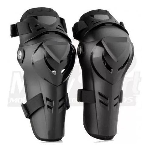 joelheira proteção motociclista moto polisport devil preta