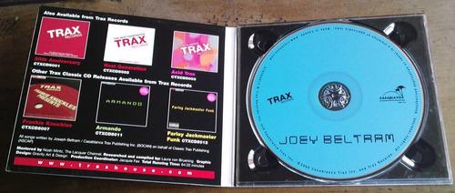 joey beltram  trax classix  cd digipack raro made in u.s.a.