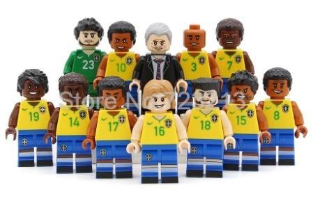 Jogadores Copa Do Mundo Seleção Brasil Compatível Lego 12pçs - R ... 9e66bff58db1a