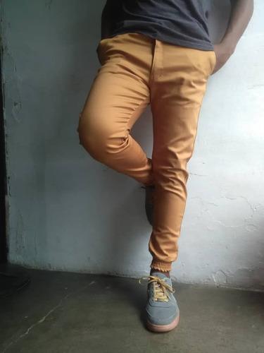 jogger pantalon caballero  - mono baggy - strech jeans