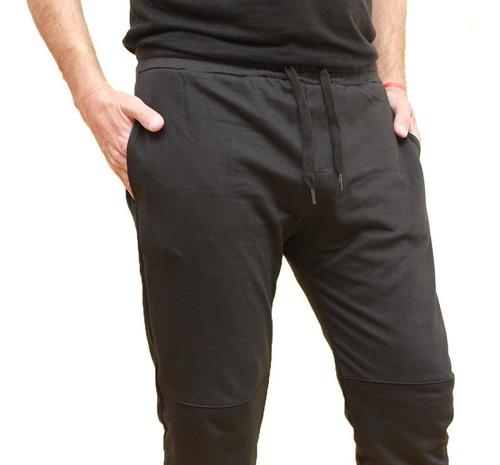 jogging hombre deportivo babucha pantalón rústico negro
