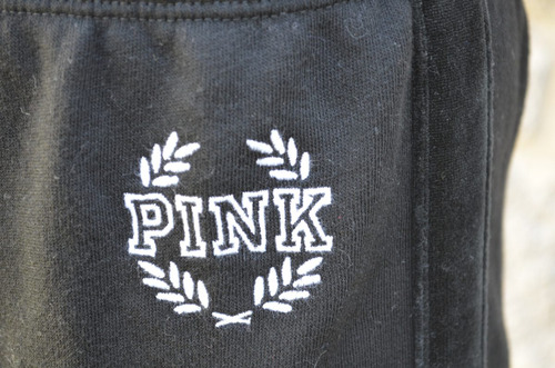 jogging pink negro mujer, by victoria´s secret original