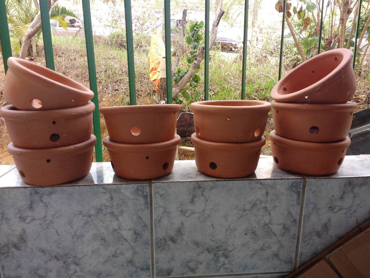 Jogo 10 vaso barro orqu deas plantas flores varanda for Vaso grande