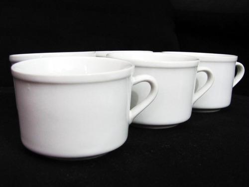 jogo 12 xícara cha 180 ml porcelana caneca cafe branca