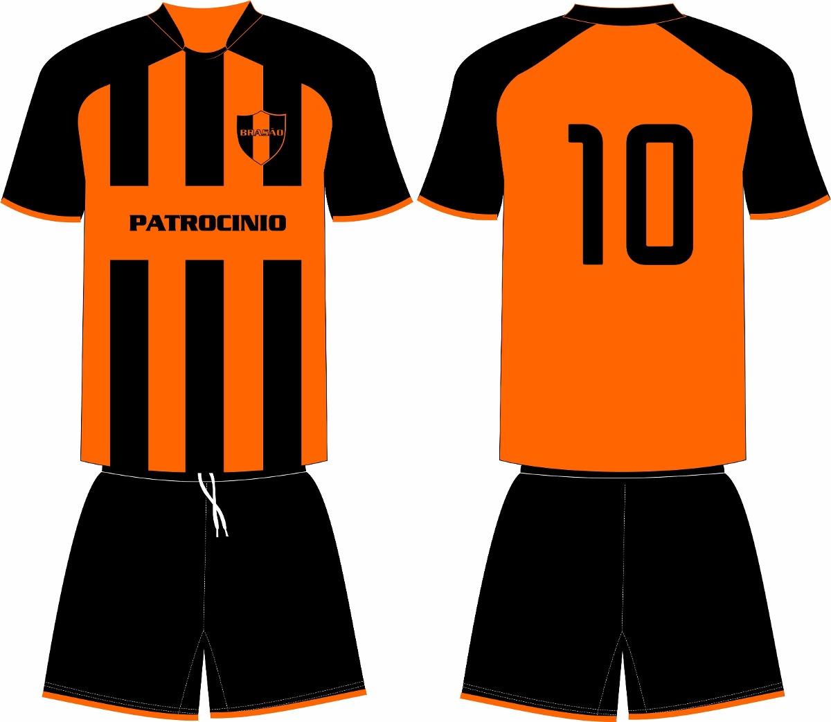 Jogo 17 Camisas 17 Calções Personalizado Futebol Dry Sport - R  680 ... 90966a96dc863