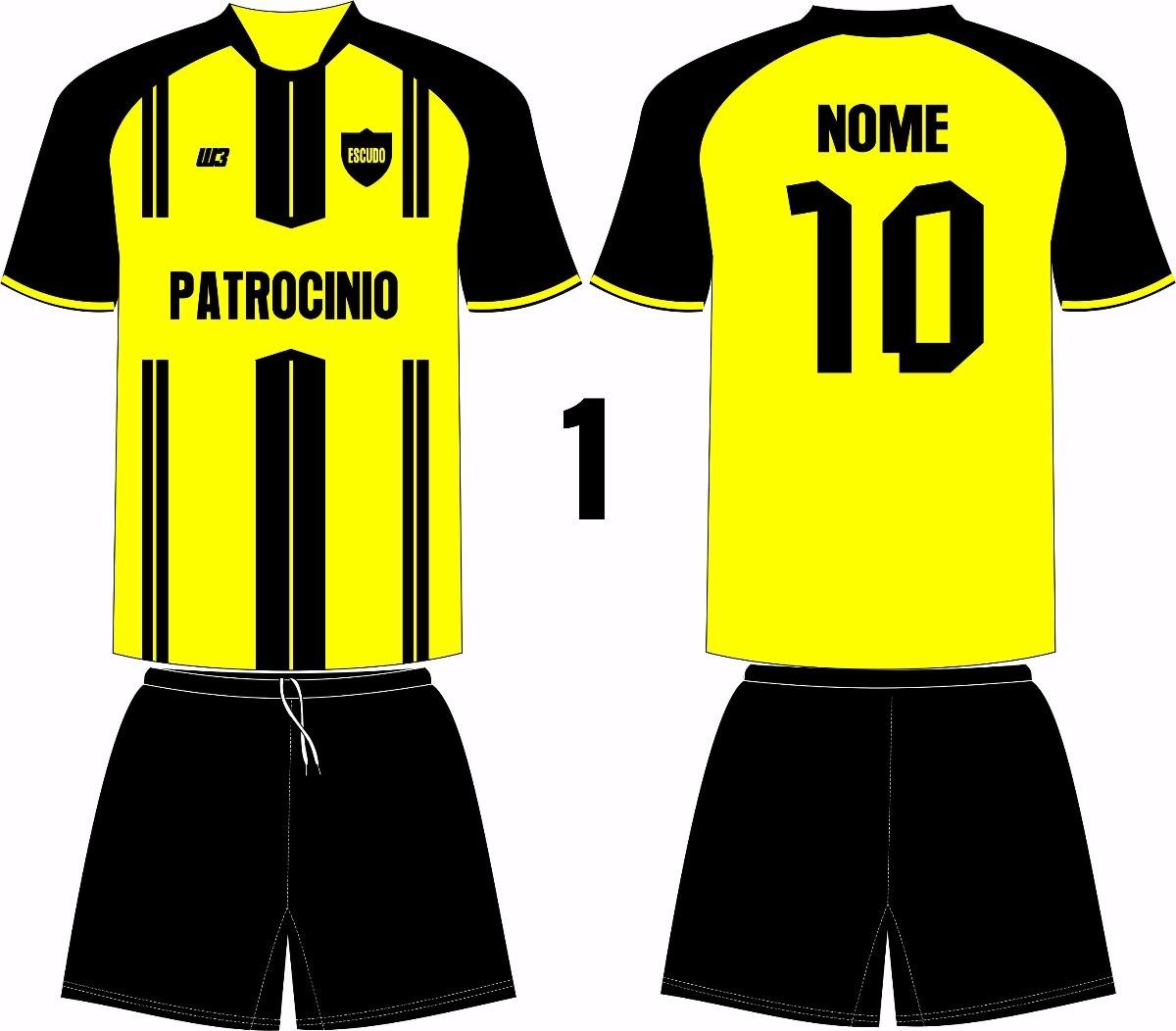 922dbf85bd jogo 18 camisas 18 calções personalizado futebol c dry sport. Carregando  zoom.