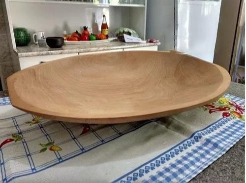 jogo 2 gamelas tigela oval madeira para servi petiscos 35 cm