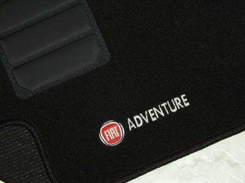 jogo 2 tapetes carpete resinado fiat strada adventure antiga