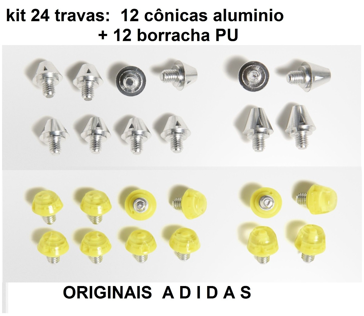 25dac42f9322e Jogo 24 Travas Borracha Sg adidas F50 11pro Predator 1magnus - R ...