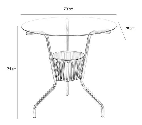 jogo 4 cadeiras + mesa alumínio c/ cooler e fibra p/ jardim