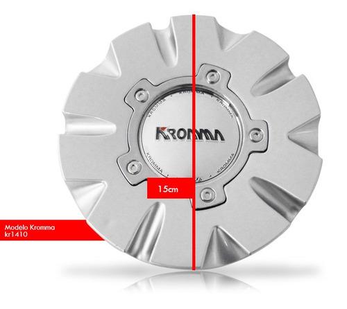 jogo 4 calota centro de roda kromma kr1410 aro 14 15 17