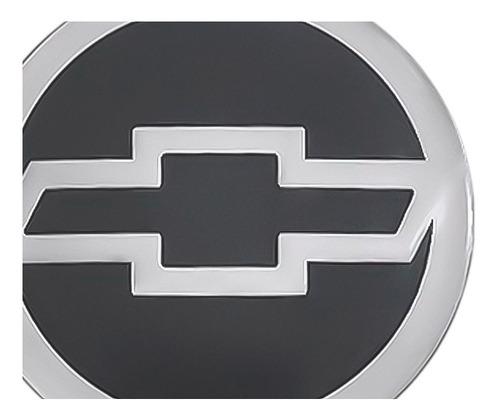jogo 4 emblema logo adesivo roda chevrolet gm cinza 55mm