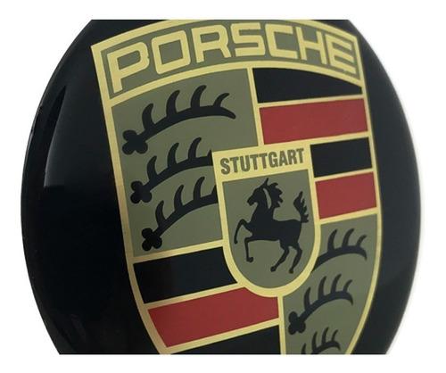 jogo 4 emblema logo adesivo roda porsche 65mm