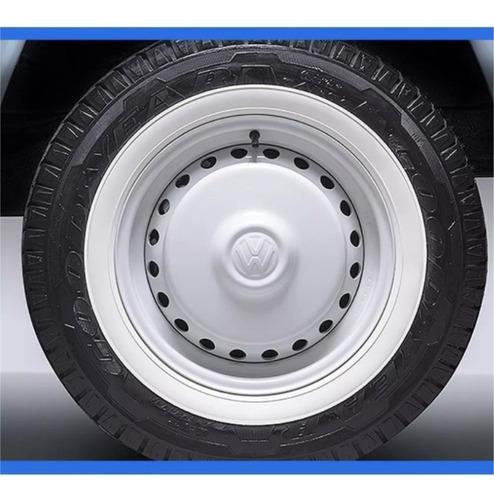 jogo 4 pcs banda faixa branca vw fusca pneu