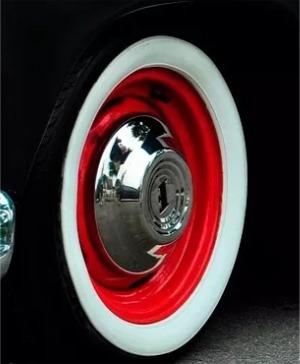 jogo 4 pcs banda faixa branca vw fusca pneu aro 13 14 15 16