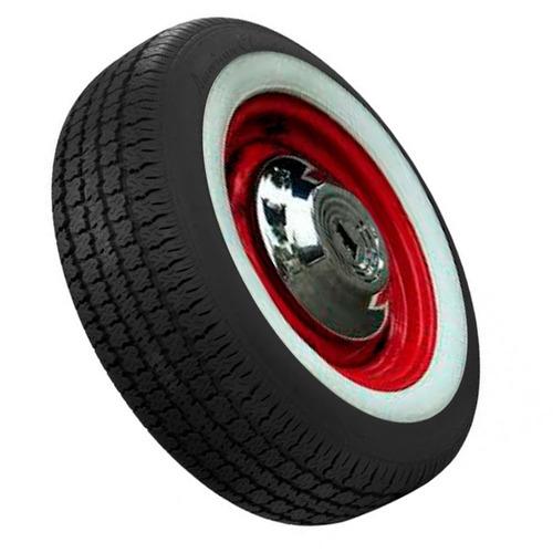 jogo 4 pçs banda faixa branca vw fusca pneu aro 13 14 15 16