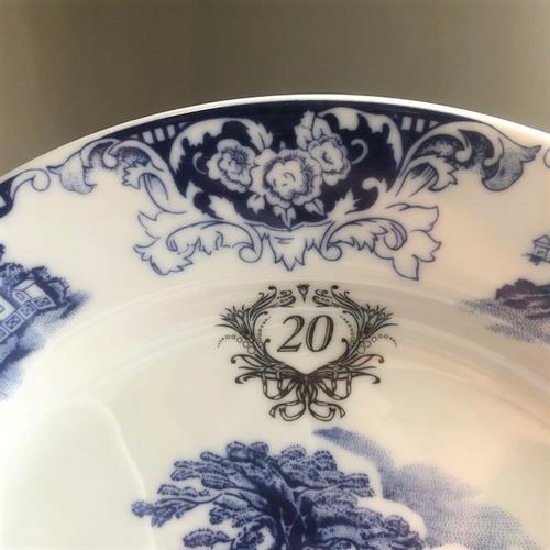 jogo 4 peças cena inglesa porcelana bodas 20 anos