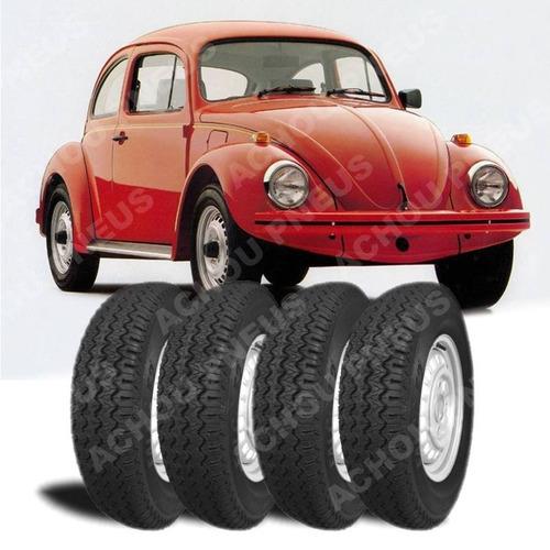 jogo 4 pneus 5.90-14 + 4 câmaras fusca brasilia novo maggion