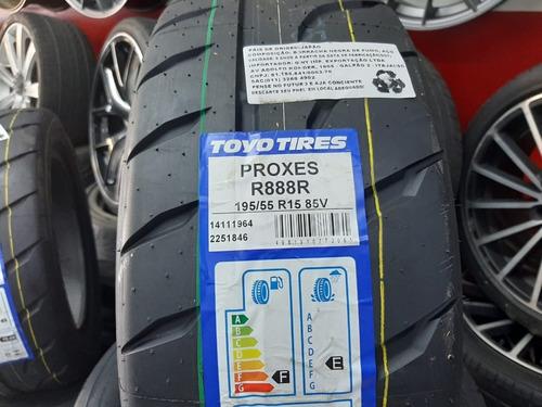 jogo 4  pneus aro 15 toyo 195/55/15 85v proxes r888r