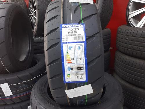 jogo 4 pneus aro 15 toyo 205/50/15 89w proxes r888r