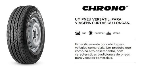 jogo 4 pneus pirelli 195/70r15c 104r (97t) chrono
