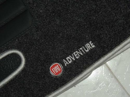 jogo 4 tapete carpete base borracha fiat doblo adventure 01+