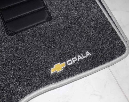 jogo 4 tapete carpete base borracha gm opala