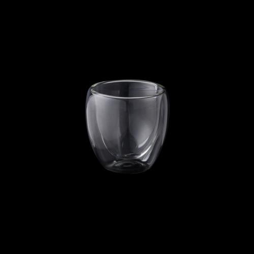 jogo 6 copos p/café dupla parede de vidro 6298 lyor