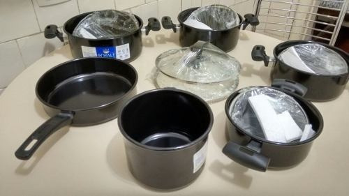 jogo 6 panelas ceramica indução tampa de vidro frete gratis