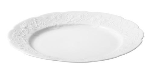 jogo 6 pc pratos de porcelana p/jantar limoges niza 26cm
