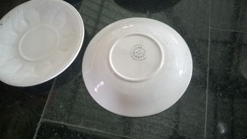jogo 6 pratinhos pires porcelana antiga