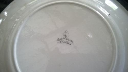 jogo 6 pratinhos pires porcelana antiga florida