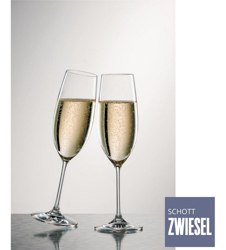 jogo 6 taças champagne cristal tritan 228 ml schott zwiesel
