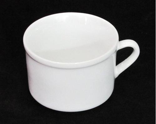 jogo 6 xícara cha 180 ml porcelana branca caneca cafe