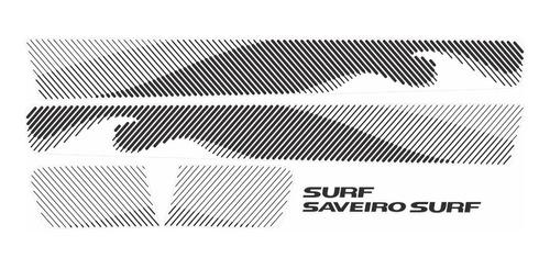jogo adesivo faixa decorativa saveiro surf 2015 2016 preto