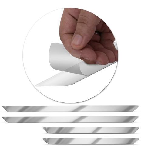 jogo adesivo soleira hilux 2006 a 2018 aplique escovado 4 pç