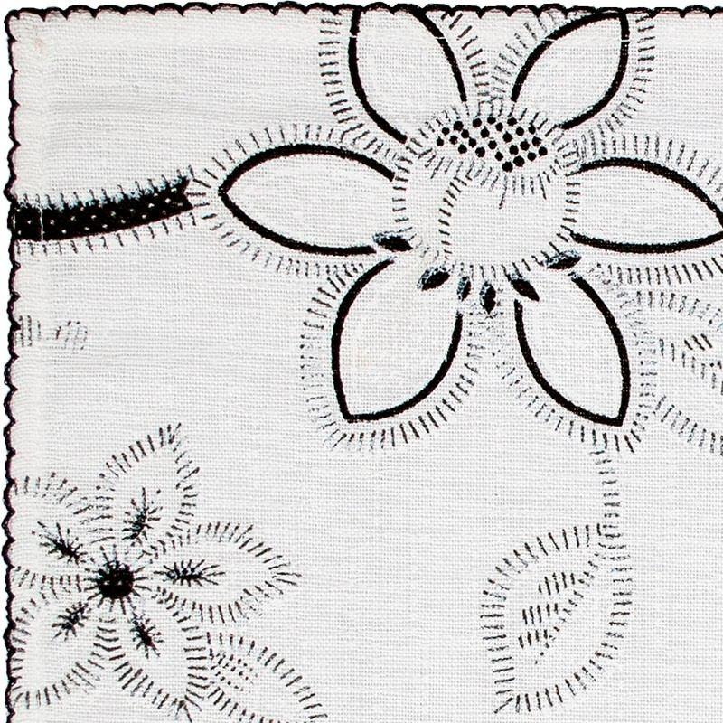45abb5c25294d6 Jogo Americano Floral Linhão Borda Crochezinho , 6 Peças