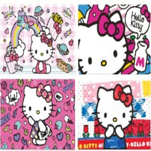 jogo americano infantil hello kitty 4 peças sanrio gedex